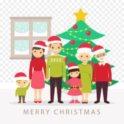 Christmas Tree Family Illustration Vector Illustration Family