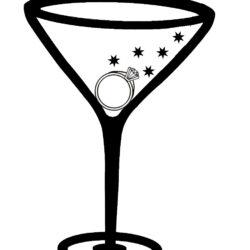 Martini Margarita Cocktail Glass Clip Art Bachelorette Party Clipart