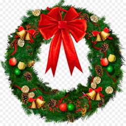 Wreath Christmas Decoration Garland Clip Art Evergreen Garland