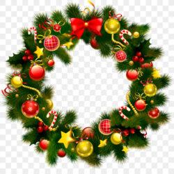 Wreath Christmas Garland Clip Art Color Door