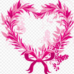 Wreath Christmas Heart Clip Art Creative Valentine S Day