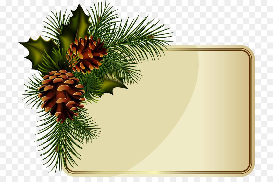Wreath Christmas New Year Clip Art Pine Cone