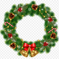 Wreath Christmas Ornament Garland Clip Art Xmas Wreath