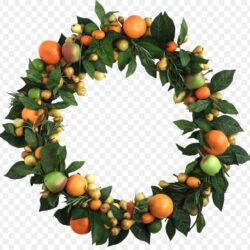 Wreath Fruit Christmas Clip Art Green