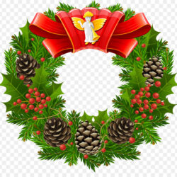 Wreath Garland Christmas Tree Clip Art Wreath