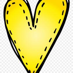 Yellow Clip Art Heart Line M  Gallery Clipart Heart Pencil