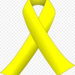 Yellow Ribbon Awareness Ribbon Clip Art Ribbon