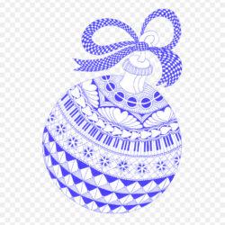 Zentangle Christmas Ornament Christmas Card Patter Creative Ball