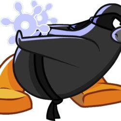 Card Club Penguin Ninja De Agua