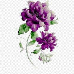 Purple Flowers Combination