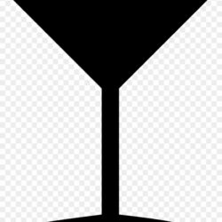 Martini Glass Clipart Cocktail Glass Silhouette
