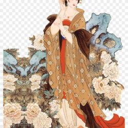 Zhuji Japanese Art Four Beauties Female Yang Gui Fei Painting