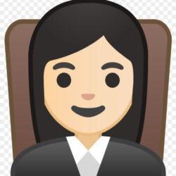Woman Judge Light Skin Tone Icon H64xs